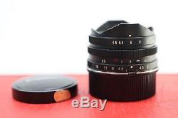 Voigtlander 15mm F4.5 Aspherical Super Wide Heliar Leica M Mount -BB