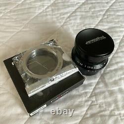 Voigtlander 25mm f4 MC Snapshot-Skopar Leica L39 M39 with m-mount adapter Clean
