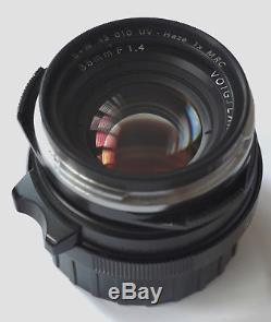 Voigtlander 35mm f/1.4 Nokton Leica M-mount + lens hood + B+W F-PRO filter boxed
