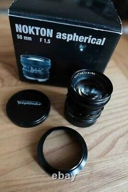 Voigtländer 50mm 1.5 nokton aspherical Leica M mount schwarz