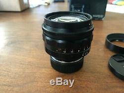 Voigtlander 50mm F/1.1 Aspherical Lens, Leica M Mount, Used
