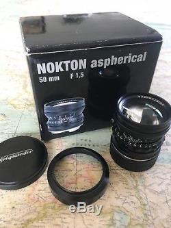 Voigtlander 50mm f1.5 VM ASPH Vintage Line Nokton Black- Leica M Mount