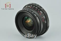 Voigtlander COLOR-SKOPAR 21mm f/4 MC Black L39 LTM Leica Thread Mount Lens