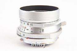 Voigtlander Color-Skopar 28mm f/3.5 Lens w Box for Leica M & M39 Mount Near Mint