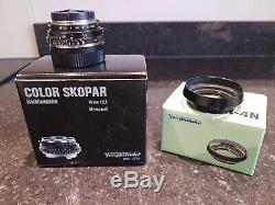 Voigtlander Color Skopar P II 35mm F2.5 Leica M Mount Lens with LH4N Lens Hood