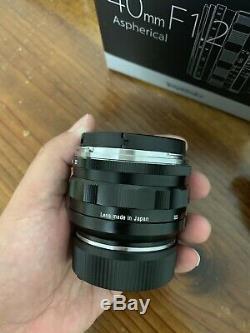 Voigtlander NOKTON 40mm F/1.2 Aspherical VM (for Leica M mount) + LH-8 Hood