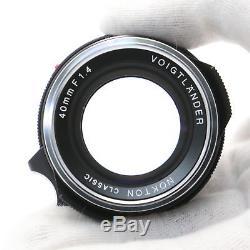 Voigtlander NOKTON Classic 40mm F1.4 MC VM (for Leica M mount) -Near Mint