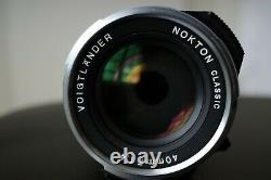 Voigtlander NOKTON Classic MC 40mm f1.4 lens for Leica M-Mount Bayonet (VM)