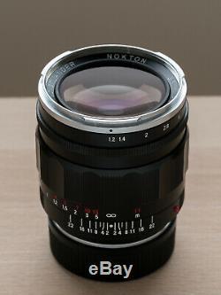 Voigtlander Nokton 35mm f/1.2 Asph II (Leica M mount) with B+W UV filter