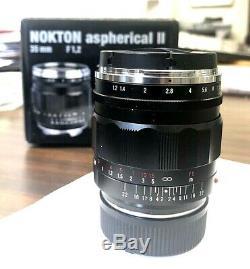 Voigtlander Nokton 35mm f/1.2 Aspherical II Lens For M-Mount Leica