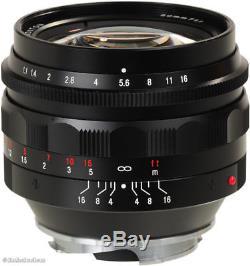 Voigtlander Nokton 50mm f/1.1 Leica M Mount Lens Mint