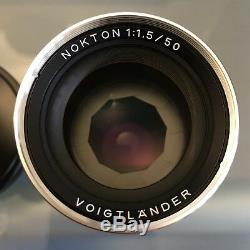 Voigtlander Nokton 50mm f/1.5 Aspherical Lens Leica M Mount Silver