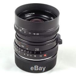 Voigtlander ULTRON 28mm F2.0 VM Leica M-mount Lens Boxed, Sharp & High Contrast