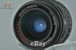 Voigtlander ULTRON 28mm f/1.9 Aspherical Black L39 LTM Leica Thread Mount Lens