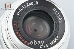 Voigtlander ULTRON 35mm f/1.7 Aspherical Silver L39 LTM Leica Thread Mount