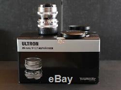Voigtlander Ultron 35mm f1.7 Silver Leica M Mount