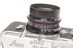 Voigtlander lens 50mm F2.5 COLR SKOPAR LTM with adapter for M Leica mount