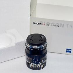 ZEISS Biogon T ZM 21mm f/2.8 MF ZM Lens Leica M mount IN BOX with extras