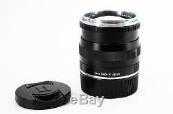ZEISS planar T 50mm f/2 MF ZM Lens For Leica (Black) M-Mount (summicron)