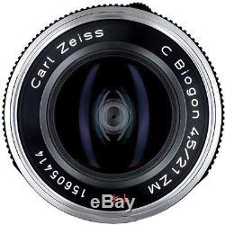 Zeiss 21mm C Biogon F4.5 Black Leica M Mount ZM Lens