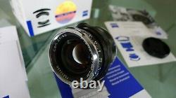 Zeiss ZM 50mm f/2 Rangefinder Lens in Leica M mount. Boxed & Complete